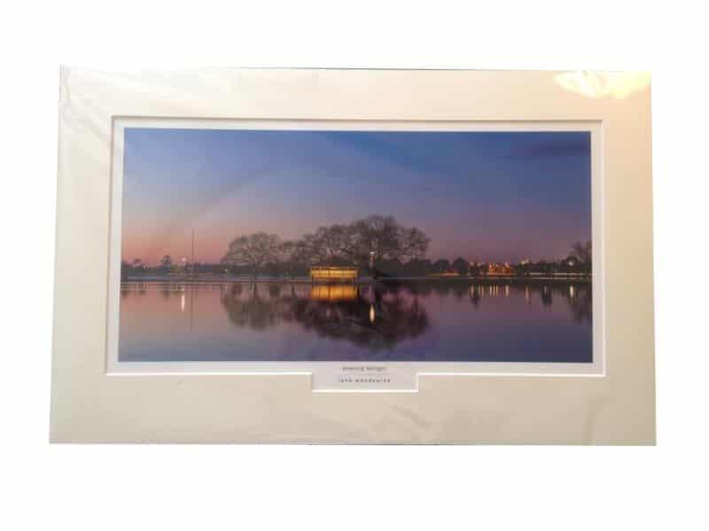 Lake Wendouree, Ballarat  Photograph - mounted  FREE shipping in Aust