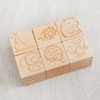 Australian animal wooden blocks 1