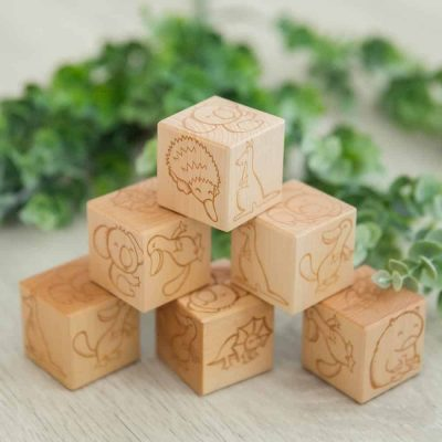 Australian animal wooden blocks 2