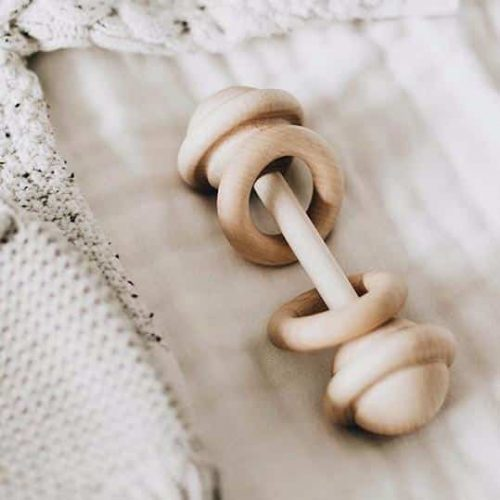 Baby wooden rattle 1