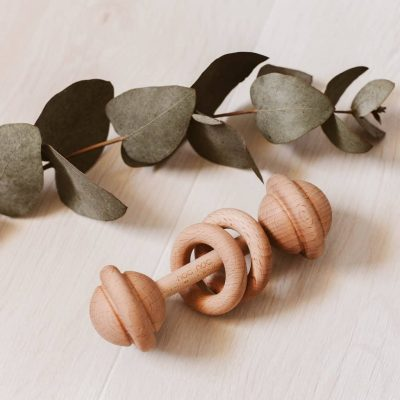 Baby wooden rattle 3