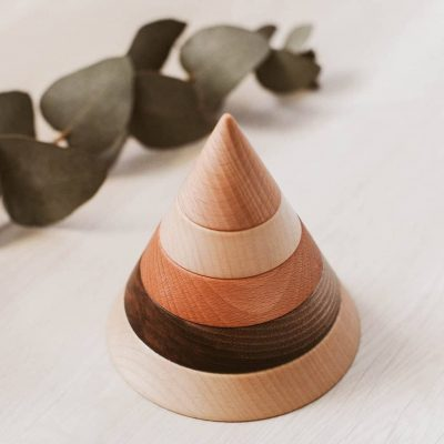 Woodl Stacked cone shaped 2