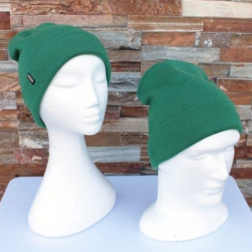 Green Pure Merino Fine Knit Beanie