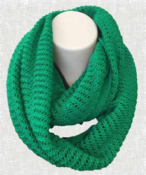 Vintage Lace Scarf Green