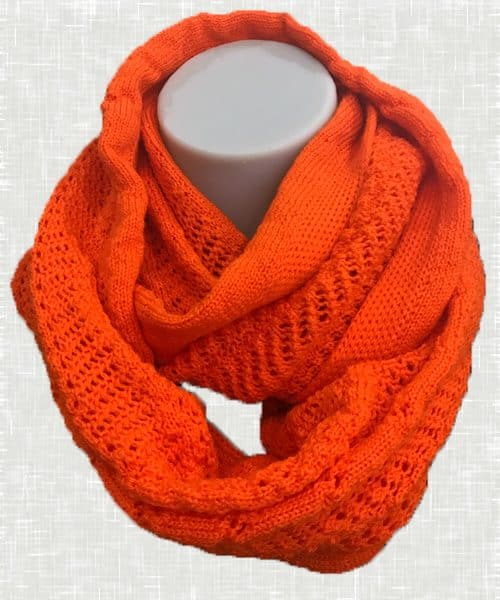 Vintage Lace Scarf Orange