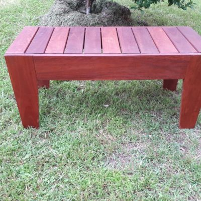 QLD red 2 seat bench