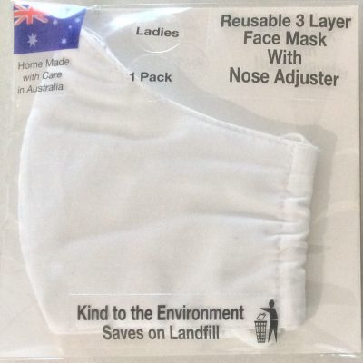 Reusable Face Mask - white
