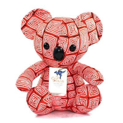 tusam-Oala Koala Original Aboriginal Art Red 1_tn