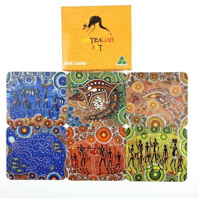 tusam-6 Australian Made Indigenous Aboriginal Art Souvenir Wooden Drink Coaster Box Colin Jones 1_tn