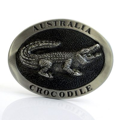 tusam-Australian Made Large Handmade Pewter Belt Buckle Souvenir Australia Crocodile 1_tn