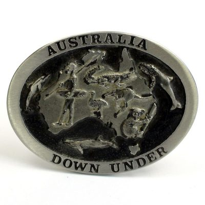 tusam-Australian Made Large Handmade Pewter Belt Buckle Souvenir Australia Down Under 2_tn