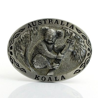 tusam-Australian Made Large Handmade Pewter Belt Buckle Souvenir Australia Koala Tree 1_tn