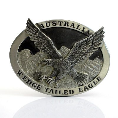 tusam-Australian Made Large Handmade Pewter Belt Buckle Souvenir Wedge Tail Eagle 1_tn