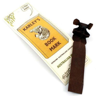 tusam-Genuine Australian Made Leather Souvenir Bookmark RUZ Karley's Koala Brown 1_tn