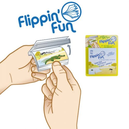tusam-Australia Made Souvenir Note Pad Book Flippin' Fun Fauna Crocodile 1_tn