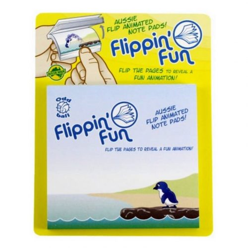 tusam-Australia Made Souvenir Note Pad Book Flippin' Fun Fauna Penguin 2_tn