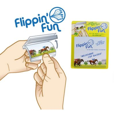 tusam-Australia Made Souvenir Note Pad Book Flippin' Fun Melbourne Cup Racers 1_tn