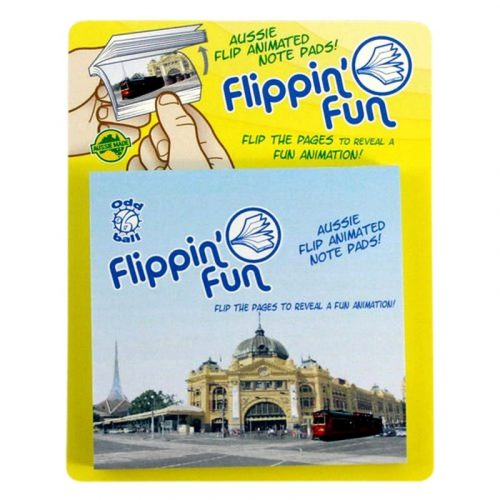 tusam-Australia Made Souvenir Note Pad Book Flippin' Fun Travelling Red Tram Melbourne 2_tn
