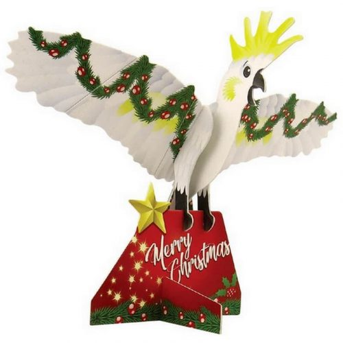 tusam-Australian Made Souvenir 3D Pop Out Construction Postcard Puzzle Christmas Cockatoo 1_tn