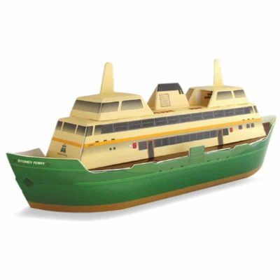 tusam-Australian Made Souvenir 3D Pop-Out Construction Puzzle Postcard Sydney Ferry 1_tn
