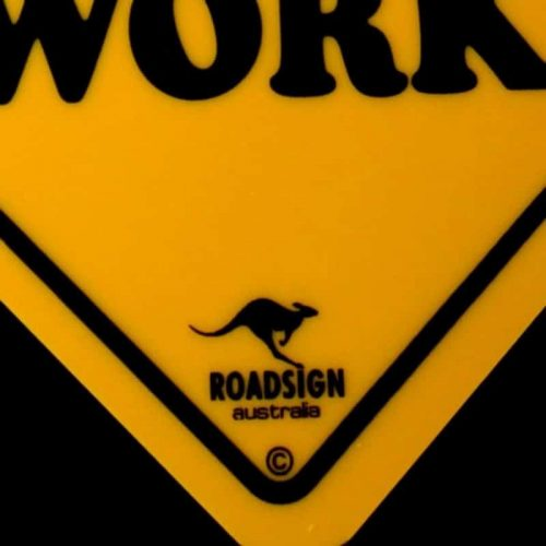 tusam-Australian Made Souvenir Roadsign Car Window Suction Swing Sign Born To Fish Forced To Work 3_tn