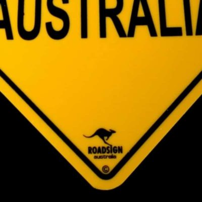 tusam-Australian Made Souvenir Roadsign Car Window Suction Swing Sign I Love Australia 2_tn