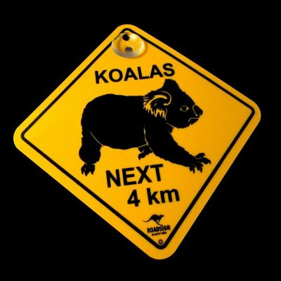 tusam-Australian Made Souvenir Roadsign Car Window Suction Swing Sign Koala 1_tn