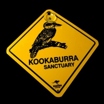 tusam-Australian Made Souvenir Roadsign Car Window Suction Swing Sign Kookaburra 1_tn