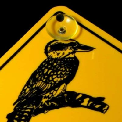 tusam-Australian Made Souvenir Roadsign Car Window Suction Swing Sign Kookaburra 2_tn