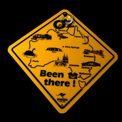tusam-Australian Made Souvenir Roadsign Car Window Suction Swing Sign OZ Been There 1_tn