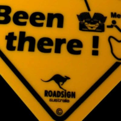 tusam-Australian Made Souvenir Roadsign Car Window Suction Swing Sign OZ Been There 2_tn