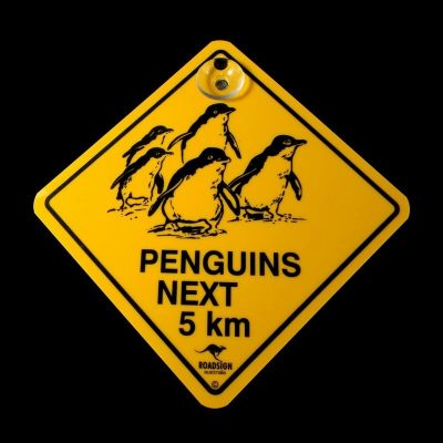 tusam-Australian Made Souvenir Roadsign Car Window Suction Swing Sign Penguin 1_tn