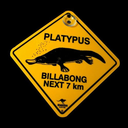 tusam-Australian Made Souvenir Roadsign Car Window Suction Swing Sign Platypus 1_tn