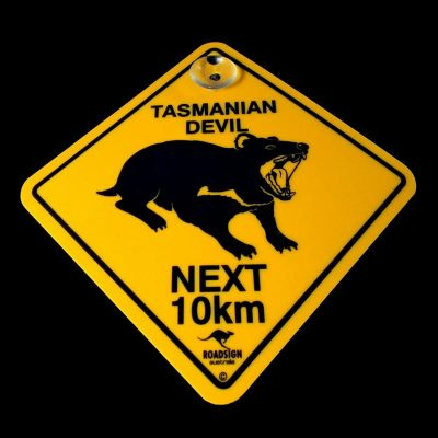 tusam-Australian Made Souvenir Roadsign Car Window Suction Swing Sign Tasmanian Devil 1_tn