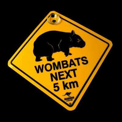 tusam-Australian Made Souvenir Roadsign Car Window Suction Swing Sign Wombat 1_tn